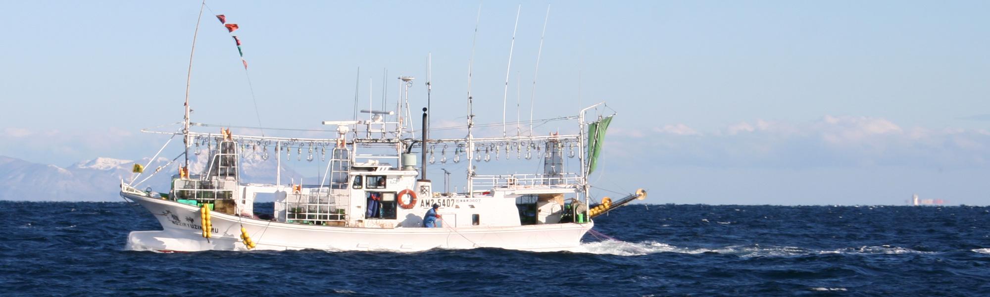 鮟鱇漁の漁船